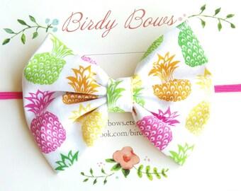 Pineapple Bow Headband, Baby Headbands, Baby Girl Headbands, Baby Girl Headbands, Infant Headbands, Baby Bows