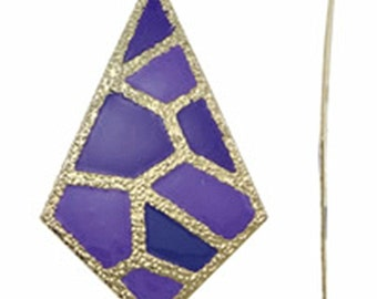 2pc 85x51mm gold plated iron with enamel pendant-10200