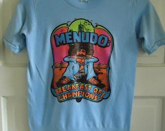 Vintage 70s MONARCH Publications MENUDO Art T Shirt sz XXS-Youth
