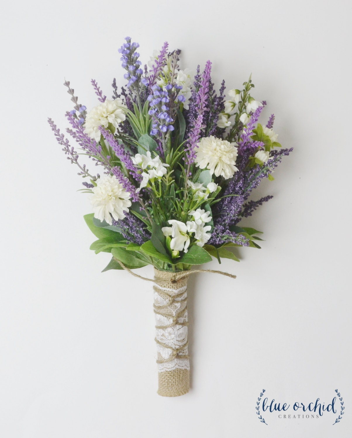 Wild Flower Wedding Bouquet: Small Wildflower Bouquet Lavender Bouquet Boho Wedding