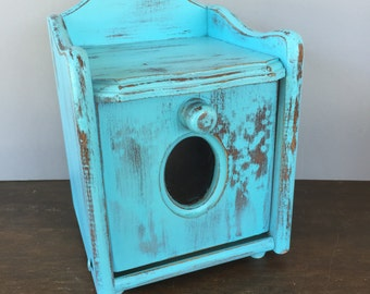 Vintage Blue Box - Wooden