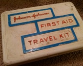 Vintage Johnson & Johnson First Aid Travel Kit