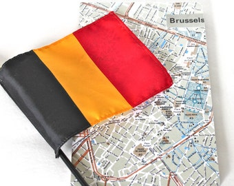 Brussels City Map Journal, Mini Notebook, Travel Notebook