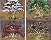 Four Seasons - Cast Paper - Trees - Seasons - Spring, Summer, Autumn and Winter