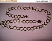 50% OFF vintage chain link belt signed LC