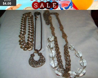 SALE 60% Off Necklace lot, Vintage Necklace Lot, vintage necklaces for wear repair or craft
