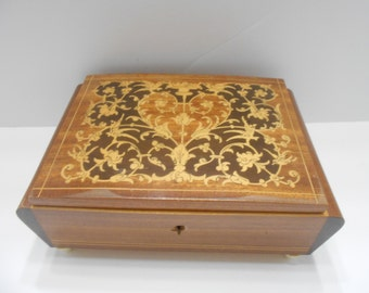 Vintage Musical Jewelry Box--Torna A Sorrento--Made In Italy