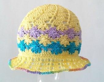 Crochet PATTERN: Flower Garden Spiral Cloche