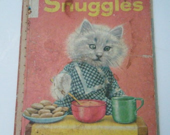 """1958 """"Snuggles"""" A Real Live Animal Book By Ruth Dixon Photographs by Harry Whittier Frees"""