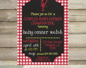 Couples Shower Baby Shower Crawfish Boil Party Invitation, Couples Shower Invitation, Crawfish Boil, Baby Shower Invitation, Printable