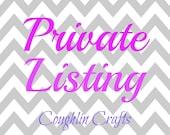 Custom Listing for Beth