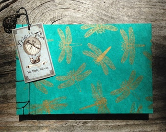 Golden Dragonfly Handcrafted Book/Journal/ Sketchbook/Album