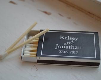 100 Custom Designed Matchbox Wedding Favors_Kelsey and Jonathan