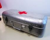Vintage Large Hungarian Medical First Aid Aluminum Tin Box