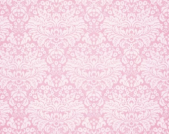 Pink Faux Damask -  Vinyl Photography Backdrop Photo Prop