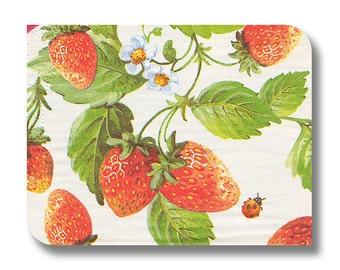 Strawberries round paper napkin for decoupage x 1. Wild Strawberries. No 1062