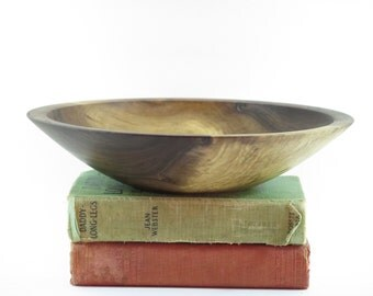 Wooden bowl: Hand Turned Bowl of Black Walnut Wood