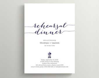 Wedding Rehearsal Dinner Invitation \ Printable Invitation \ Custom Colours \ Digital Invitation (RD29)