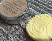 Solid Lotion Bar - Shea Butter Body Bar, Lavender & Lemon essential oils, Moisturizer, Body Butter