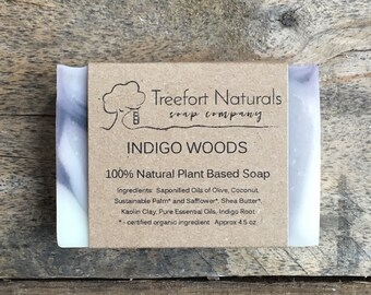 Indigo Clay Soap - Handmade soap, Cold Process, All Natural soap, vegan soap, essential oils, blue soap