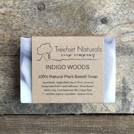 Indigo Clay Soap - Handmade soap, Cold Process, All Natural soap, vegan soap, essential oils, blue soap
