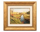 Landscape Wall Art Painting Miniature FRAMED Hand Painted Oil on Canvas