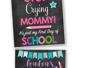 First Day of School Back to School Chalkboard Sign- Printable DIY File