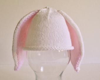 Knit Bunny Hat, Baby Bunny Hat, Baby Hat, Newborn Hat, Newborn Bunny Hat, Easter Hat, Knit Bunny, Knit Hat,Photo Prop, Rabbit Hat, Bunny