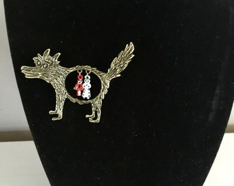 Little Red Riding Hood Themed Brooch