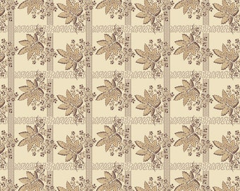 Pheasant & Traceries Bronze Leave Bunch Fabric by Andover