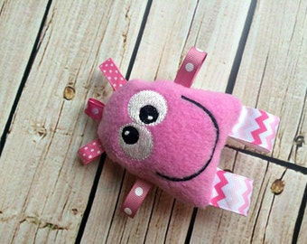 Baby Rattle - Pink Monster Taggie Toy - Stuffed Monster