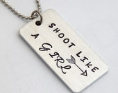 SHOOT Like a Girl Necklace - Archers Archery Bow JOAD AAP