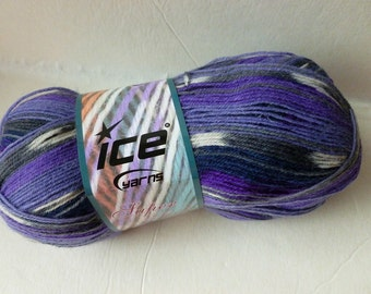 Sale Purples  Super Sock by Ice Yarns
