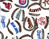 Major League Baseball fabric – by the Half Yard, Extra Wide – Out of Print!