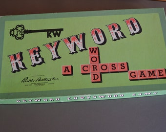 Amazing Vintage Keyword game by Parker Brothers