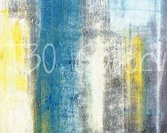Digital Download - Make A Statement, Teal and Yellow Abstract Artwork