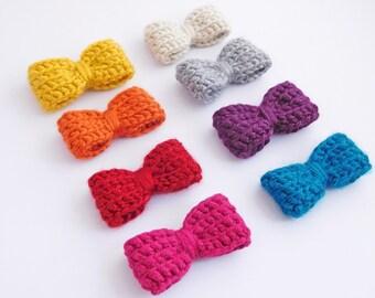 Customizable Mini Classic Crochet Bow