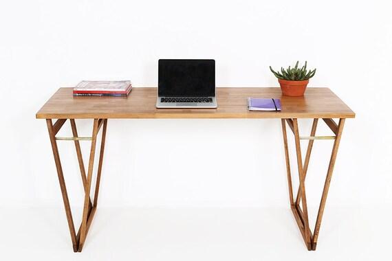 BEECHWOOD COMPUTER DESK, Walnut colour Study Desk, Original Solid