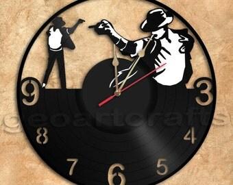 Wall Clock Jackson Vinyl Record Clock Upcycled Gift Idea