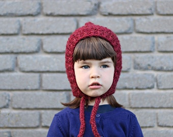 CUSTOM / CHOOSE your COLOR pixie hat, baby or kid, knitted, wool and acrylic yarn