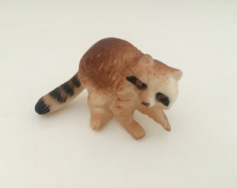 Miniature Raccoon Collectible Figurine Craft Project Supply Dollhouse Shadow Box DIY CHOICE of ONE