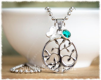 Cremation Jewelry • Urn Necklace • Tree of Life Necklace • Loss Of Pet • Remembrance Necklace • Pregnancy Loss