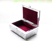 Good Luck Elephant  Classic Carved Oxidized Jewelry Box
