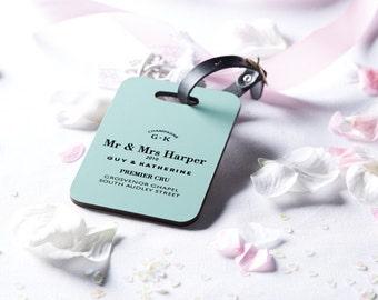 Wedding luggage tag - Luggage tag - Identification tag - Honeymoon gift - Wedding gift - Personalised wedding gift -Bag tag - Mr & Mrs gift