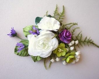 Bridal Hair Clip, Spring Wedding, Boho Wedding, Woodland Hair Clip, Floral Clip, Bridal Hair Clip, Boho Hairpiece, Bridal Hair Accessory