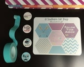 Hexagons - Follow Your Arrow - (Gelato) - inkWELL Press Planner Stickers - Bound and A5 sizes available