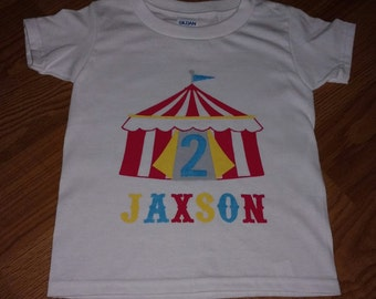 Carnival or Circus Theme Personalized 2nd Birthday - Onesie or T-Shirt
