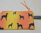 Zippered Italian Greyhound pouch