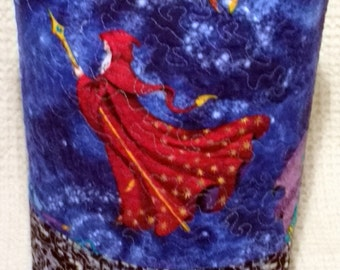The Red Wizard Sock Knitting Bag