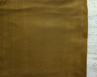 Vintage cotton fabric 2.35 yards in 1 listing khaki olive green solid